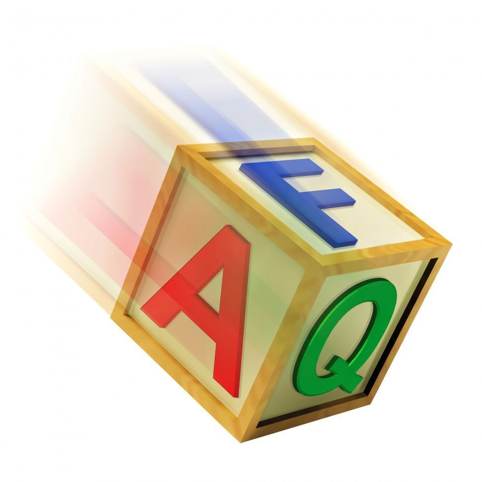 Download Free Stock HD Photo of FAQ Wooden Block Means Questions Inquiries And Answers Online