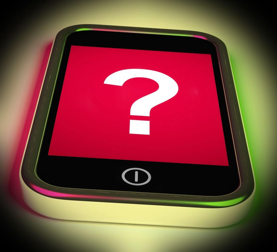 Download Free Stock HD Photo of Question Mark On Mobile Shows Help Confused And Doubt Online