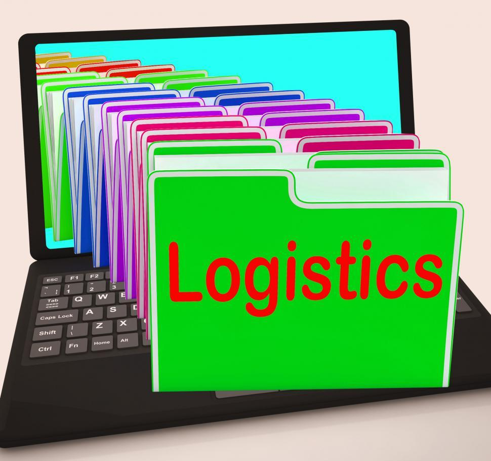 Download Free Stock Photo of Logistics Folders Laptop Mean Planning Organization And Coordina
