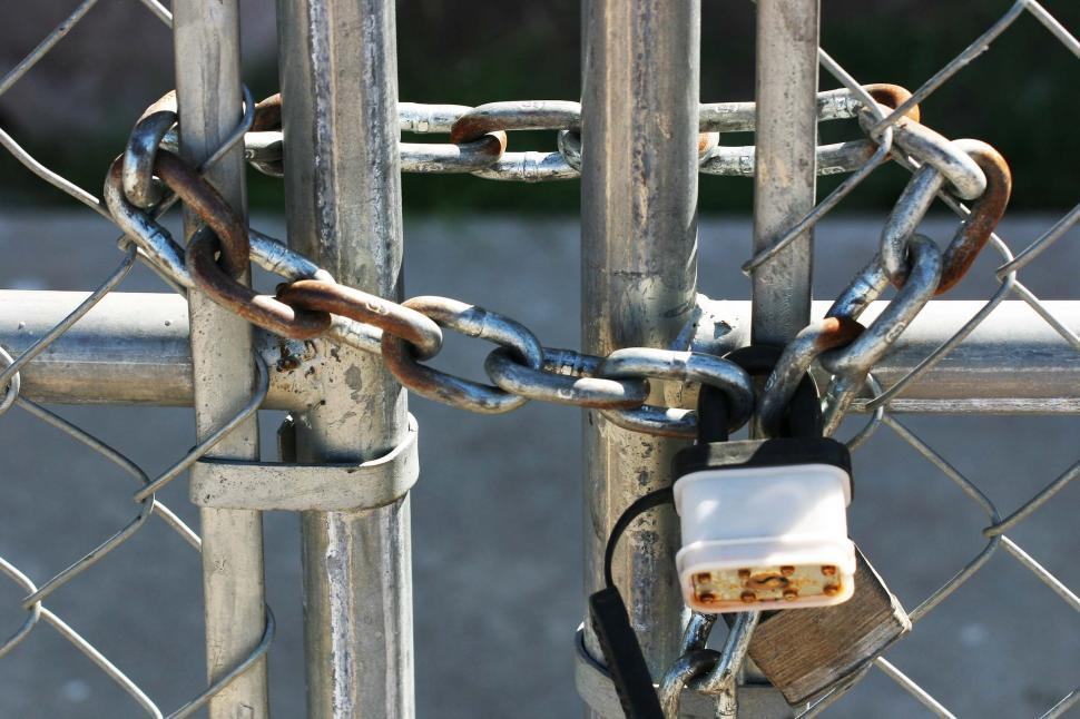 Download Free Stock HD Photo of Locked gate Online