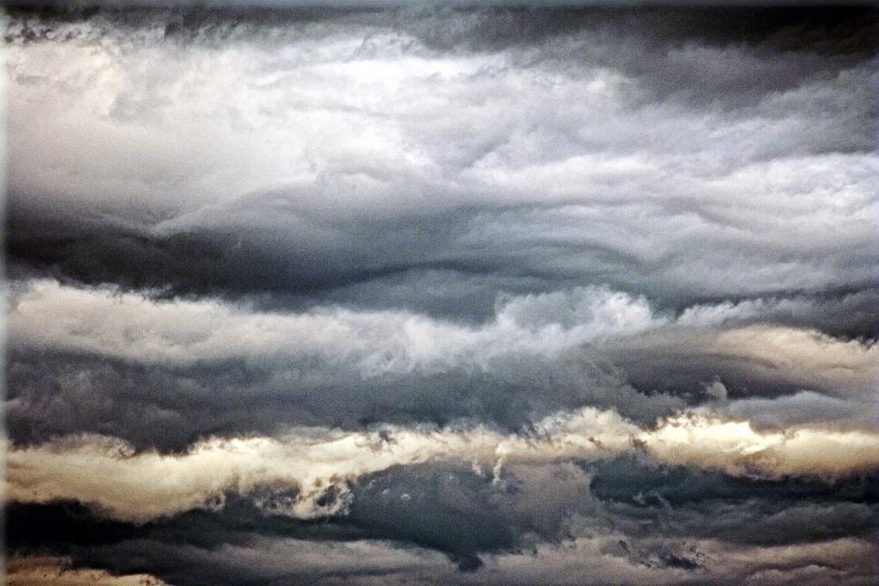 Download Free Stock Photo of Layered clouds