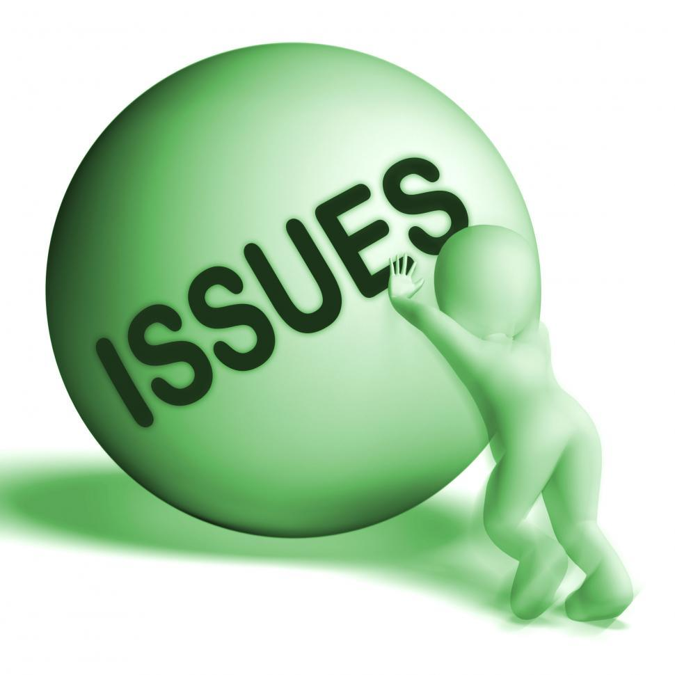Download Free Stock HD Photo of Issues Uphill Sphere Shows Problems Difficulty Or Troubles Online