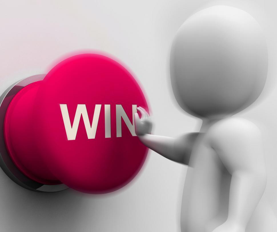 Download Free Stock HD Photo of Win Pressed Means 1st Place Competition Or Victory Online