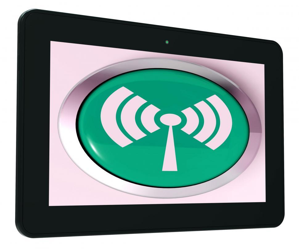Download Free Stock HD Photo of Wifi Tablet Shows Wireless Internet Access Transmitter Online