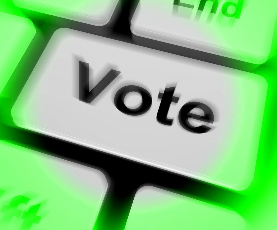Download Free Stock Photo of Vote Keyboard Shows Options Voting Or Choice