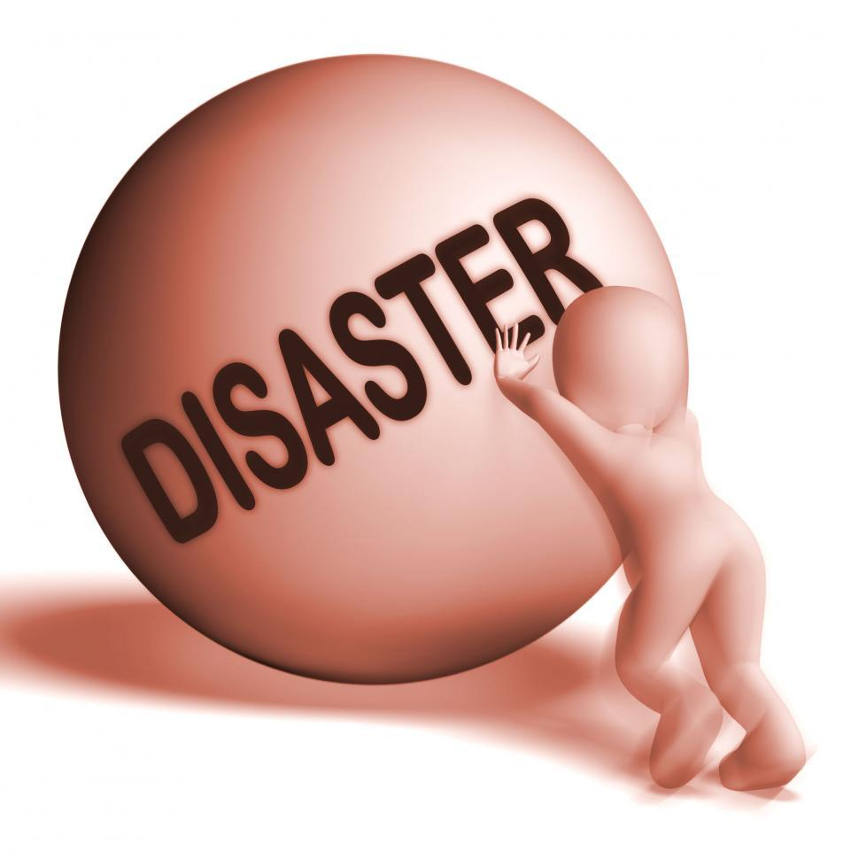 Download Free Stock HD Photo of Disaster Uphill Sphere Shows Crisis Trouble Or Calamity Online