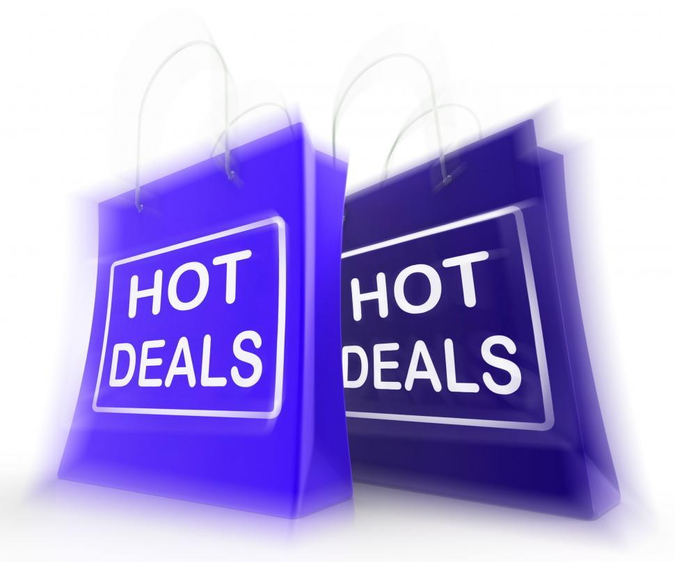 Download Free Stock Photo of Hot Deals Shopping Bags Show Shopping  Discounts and Bargains