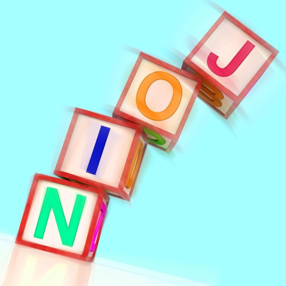Download Free Stock HD Photo of Join Word Show Member Signing Up And Group Online