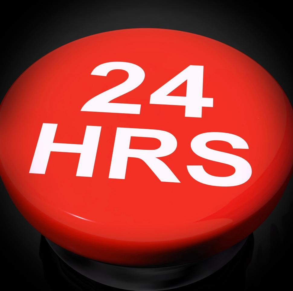 Download Free Stock Photo of Twenty Four Hours Switch Shows Open 24 hours