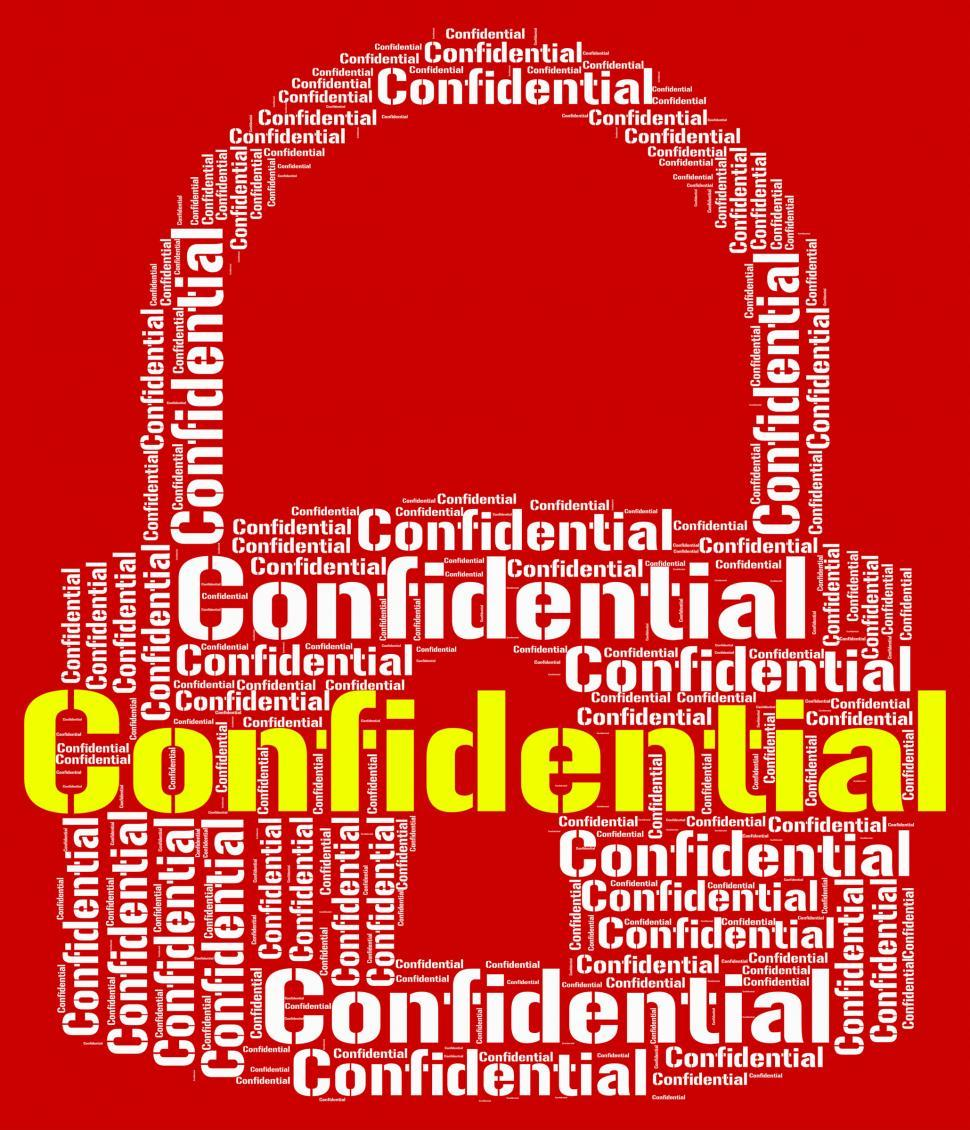 Download Free Stock HD Photo of Confidential Lock Means Restricted Words And Forbidden Online