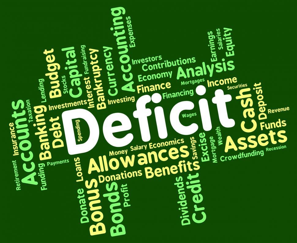 Download Free Stock HD Photo of Deficit Word Means Bad Debt And Deficiency Online