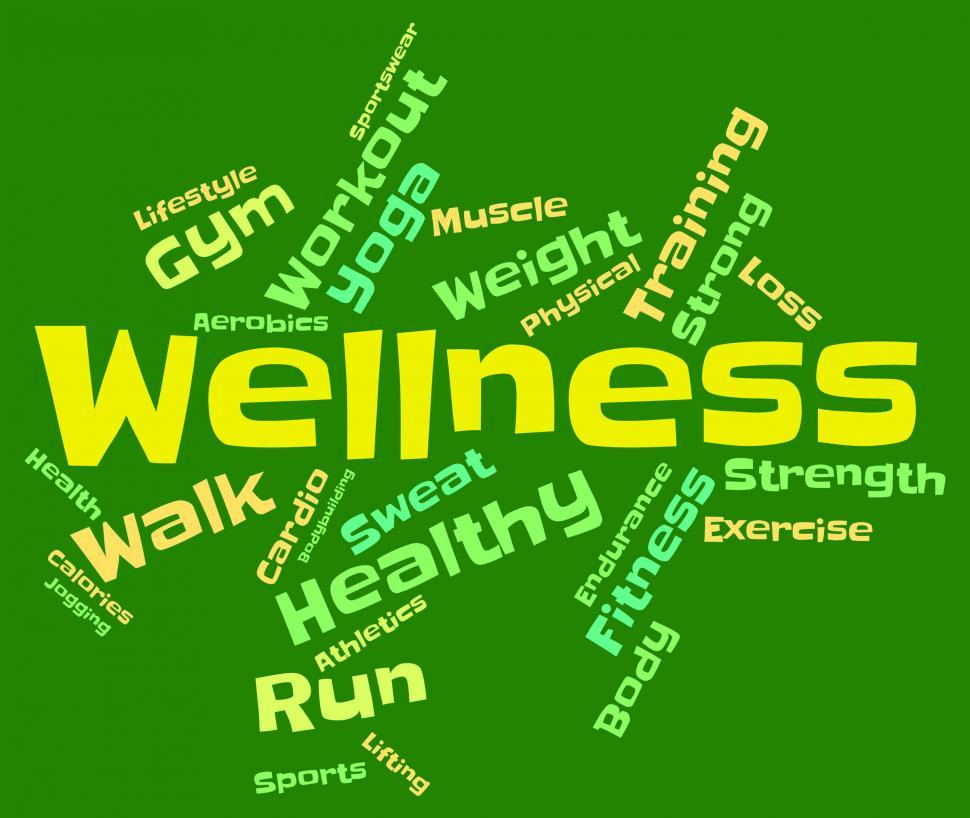 Download Free Stock HD Photo of Wellness Words Indicates Health Check And Healthcare Online