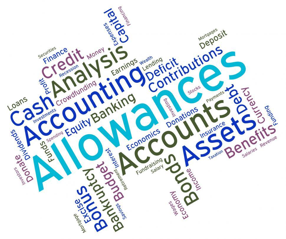 Download Free Stock HD Photo of Allowances Word Shows Text Words And Perks Online