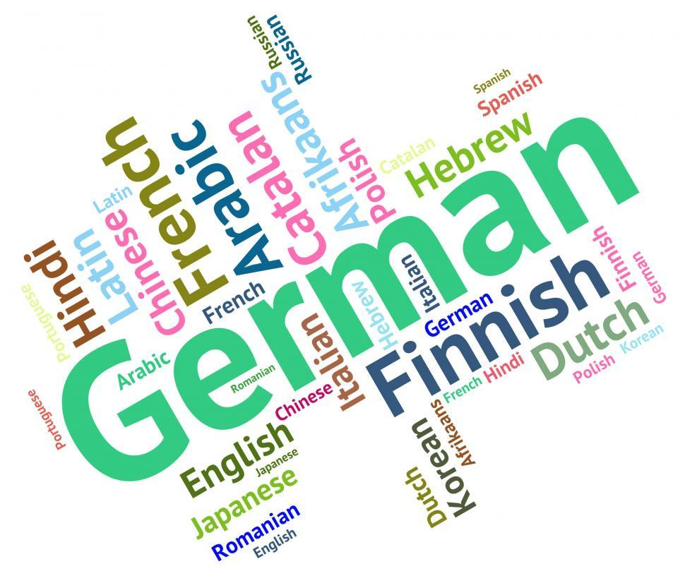 Download Free Stock Photo of German Language Shows Germany Communication And Words
