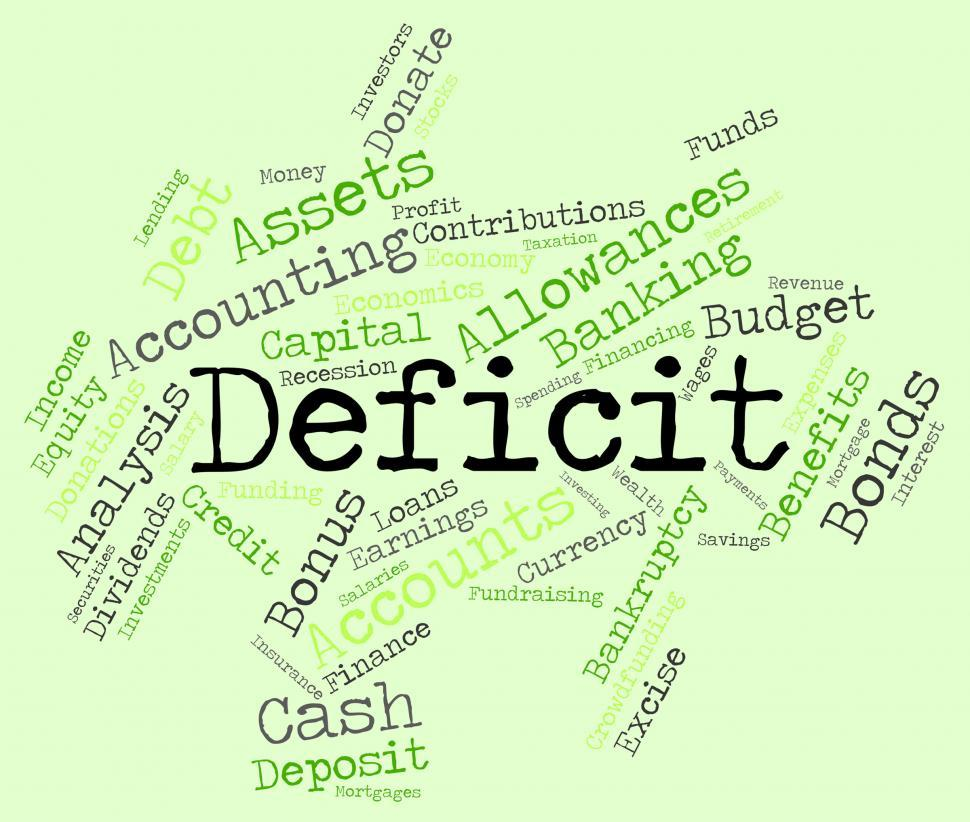 Download Free Stock HD Photo of Deficit Word Indicates Financial Obligation And Debt Online