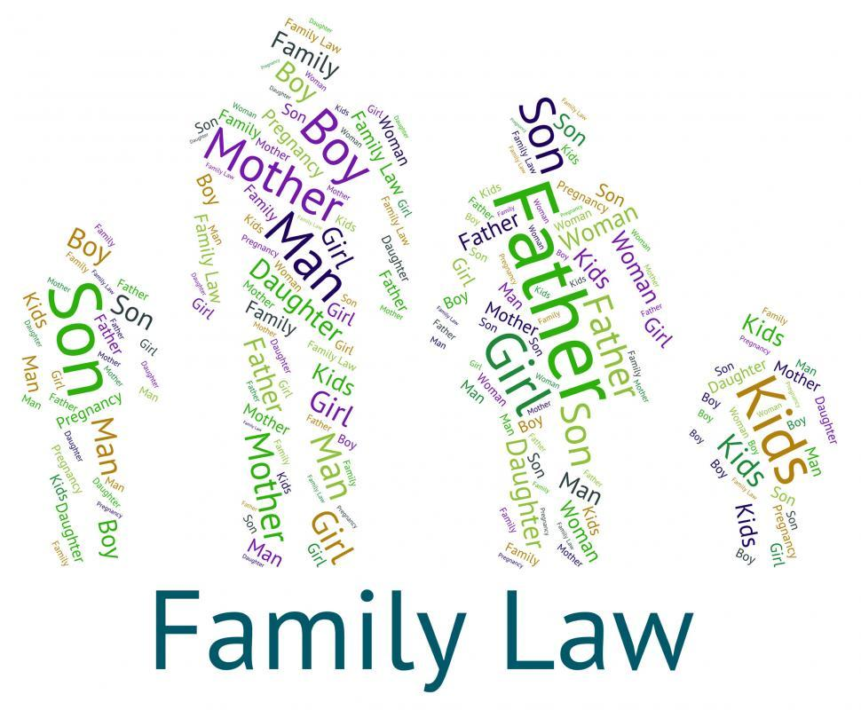 Download Free Stock Photo of Family Law Shows Blood Relative And Court