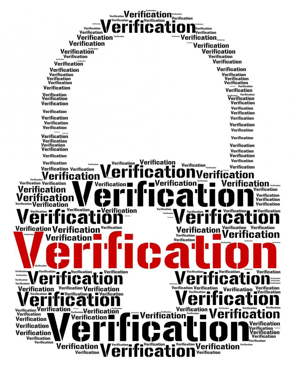 Download Free Stock HD Photo of Verification Lock Means Authenticity Guaranteed And Certificated Online