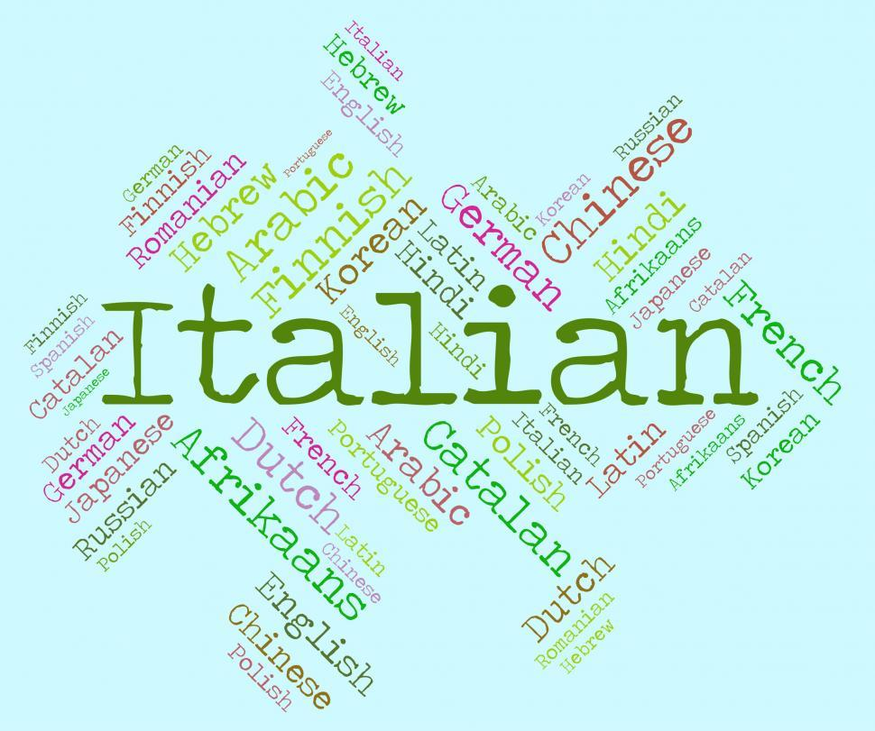Download Free Stock HD Photo of Italian Language Represents Italy Foreign And Text Online