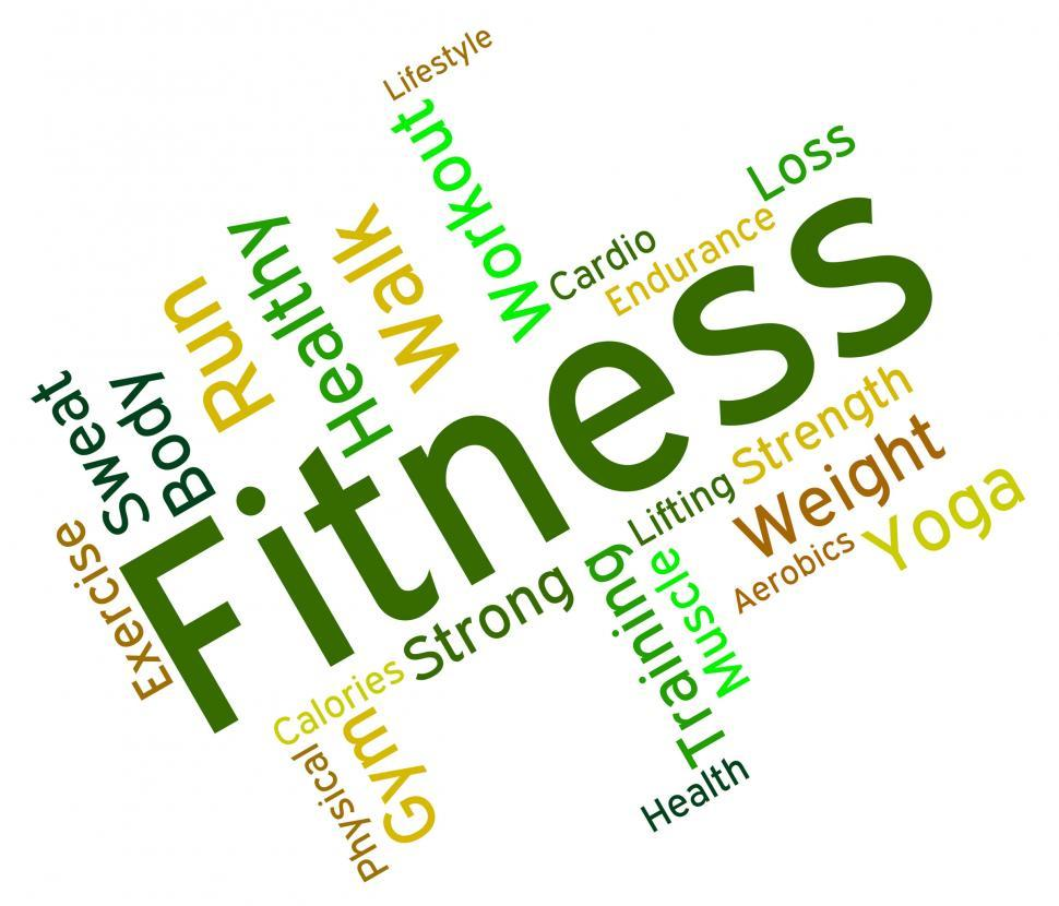 Download Free Stock Photo of Fitness Words Means Physical Activity And Exercise
