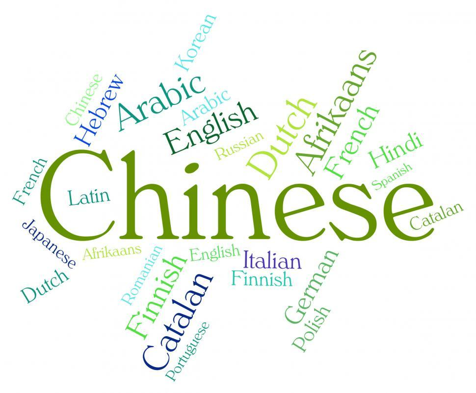 Download Free Stock HD Photo of Chinese Language Means Text Communication And Languages Online