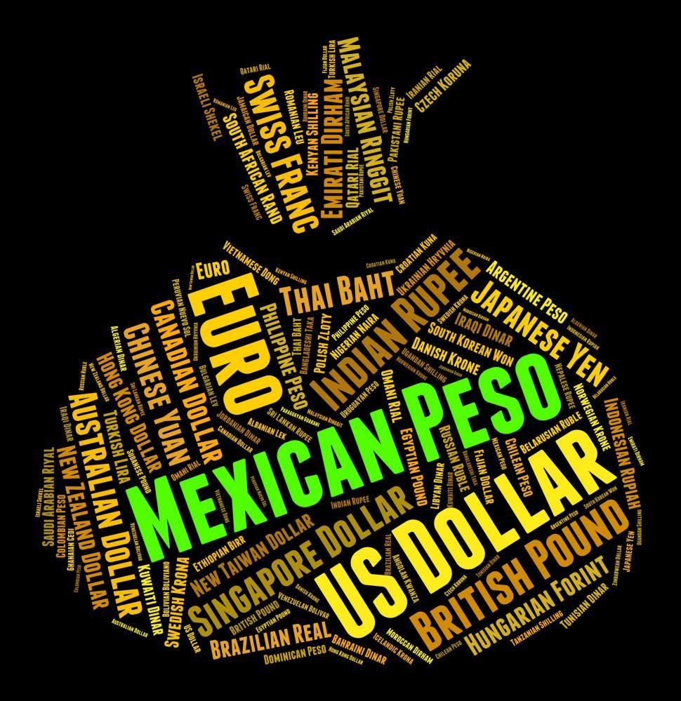 Download Free Stock Photo of Mexican Peso Means Currency Exchange And Forex