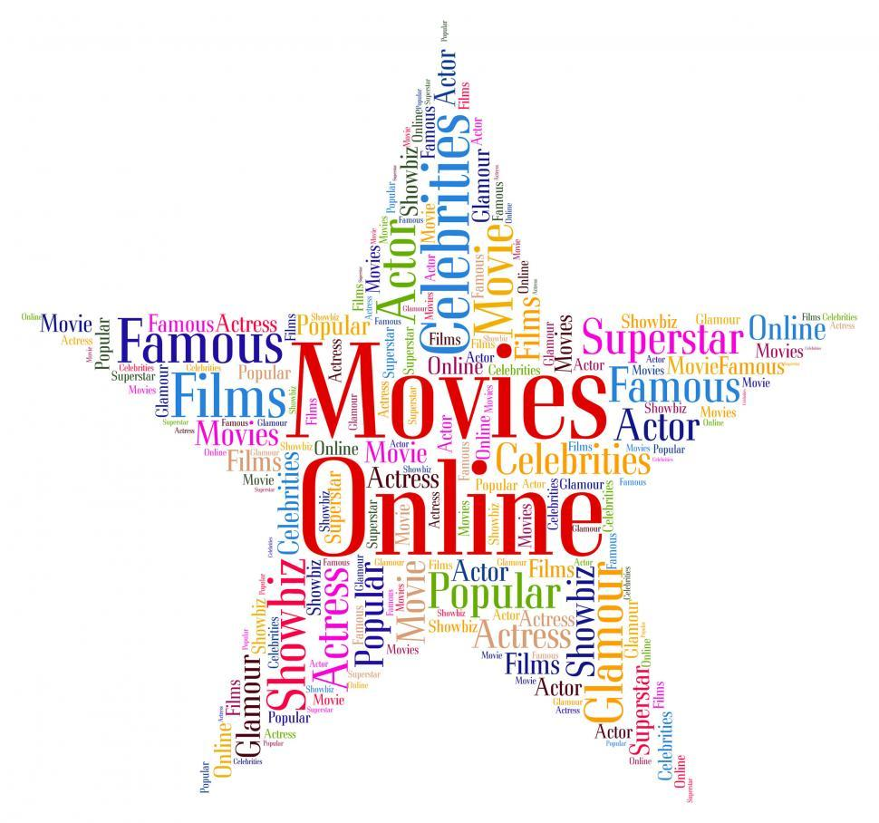 Download Free Stock HD Photo of Movies Online Means World Wide Web And Cinema Online