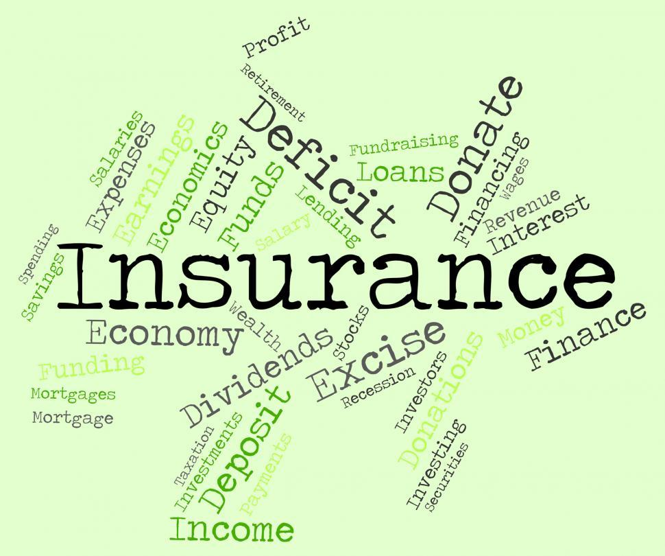 Download Free Stock Photo of Insurance Word Indicates Covered Coverage And Contract