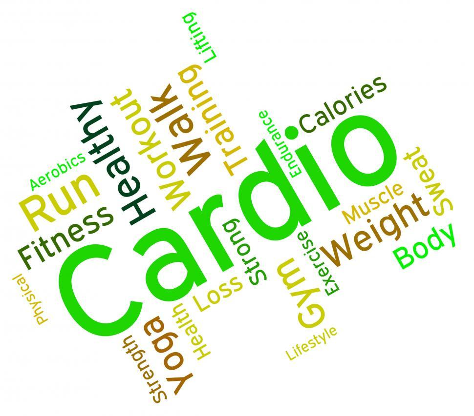 Download Free Stock HD Photo of Cardio Word Indicates Get Fit And Exercise Online