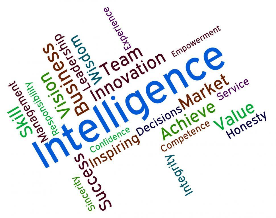 Download Free Stock HD Photo of Intelligence Words Represents Intellectual Capacity And Ability Online