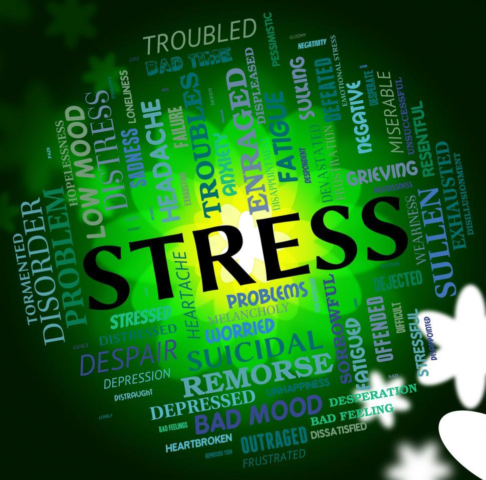 Download Free Stock HD Photo of Stress Word Shows Stressed Wordcloud And Pressures Online