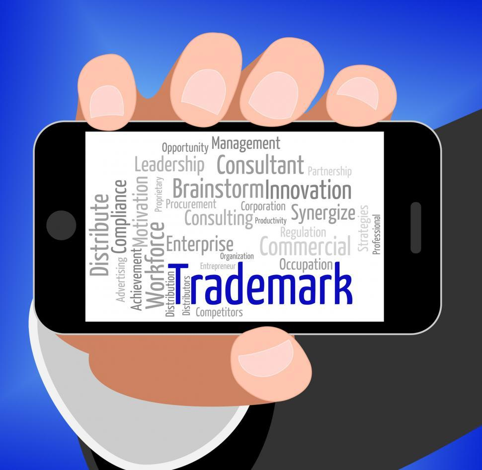 Download Free Stock HD Photo of Trademark Word Shows Proprietary Name And Hallmark Online