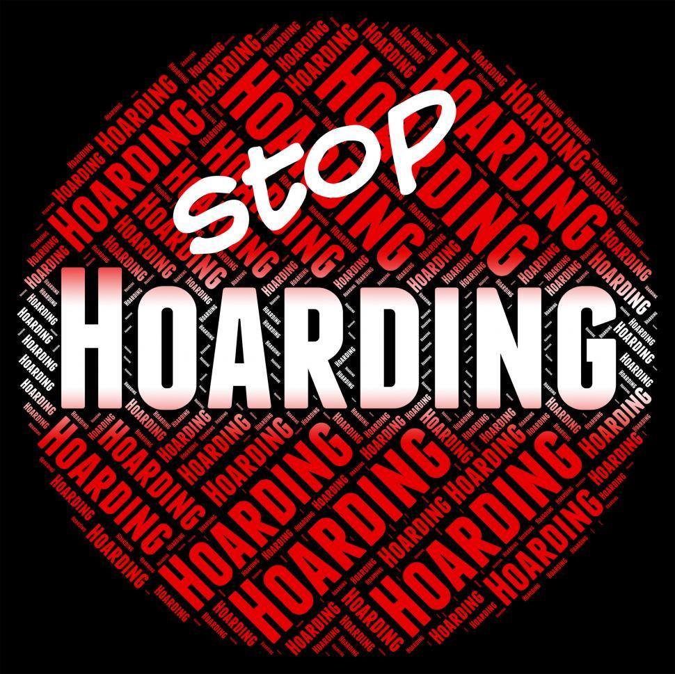 Download Free Stock HD Photo of Stop Hoarding Represents Squirrel Away And Amass Online