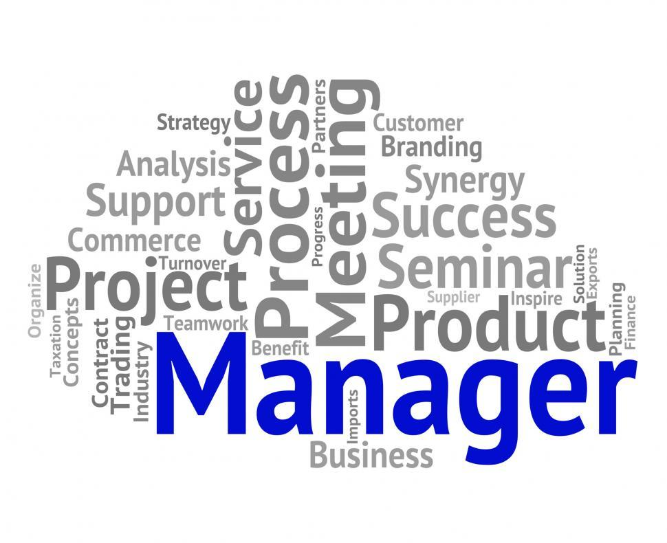 Download Free Stock Photo of Manager Word Shows Boss Director And Principal