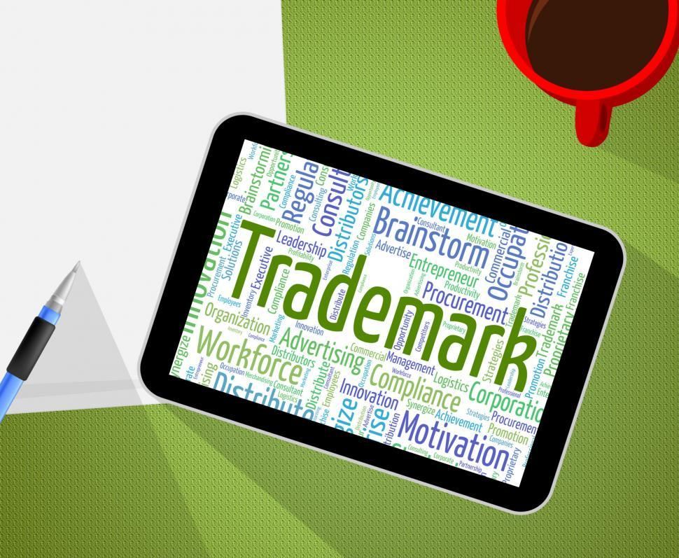 Download Free Stock HD Photo of Trademark Word Means Brand Name And Emblem Online