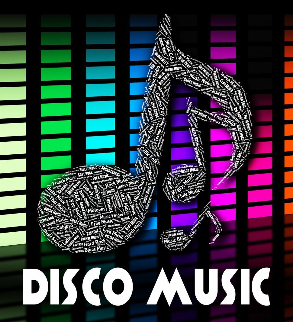 Download Free Stock HD Photo of Disco Music Indicates Sound Track And Acoustic Online