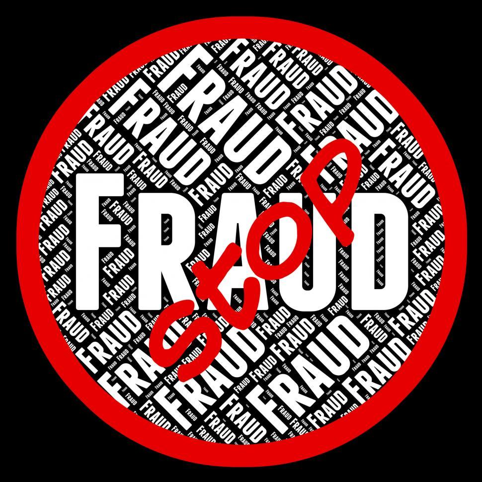 Download Free Stock HD Photo of Stop Fraud Represents Rip Off And Caution Online