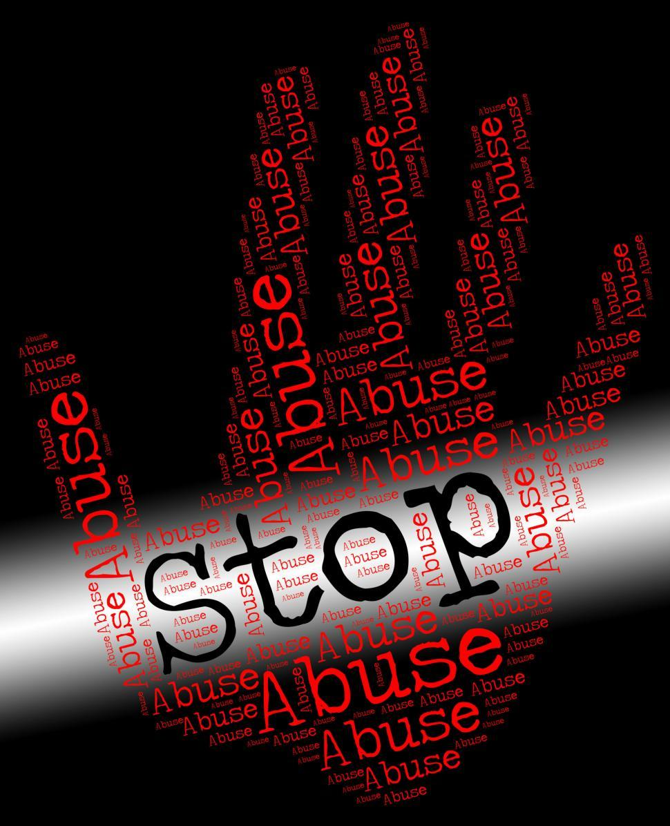 Download Free Stock Photo of Stop Abuse Represents Treat Badly And Abuses