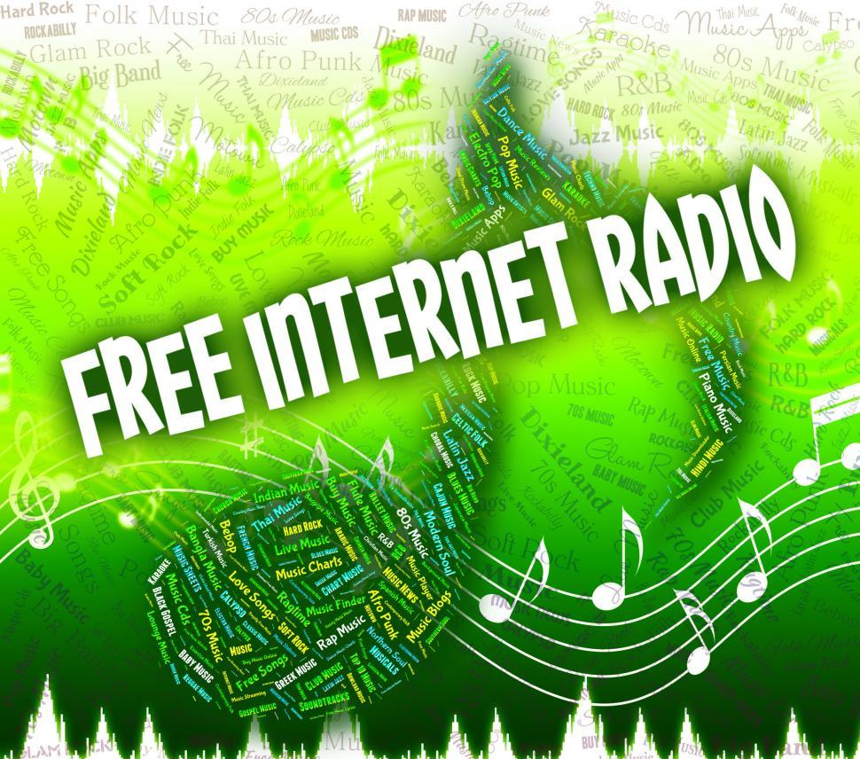Download Free Stock HD Photo of Free Internet Radio Represents Sound Track And Complimentary Online