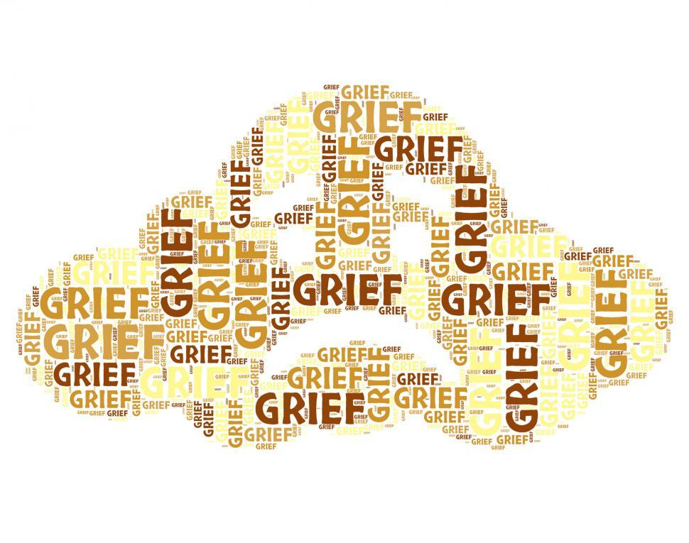 Download Free Stock HD Photo of Grief Word Means Broken Hearted And Angst Online