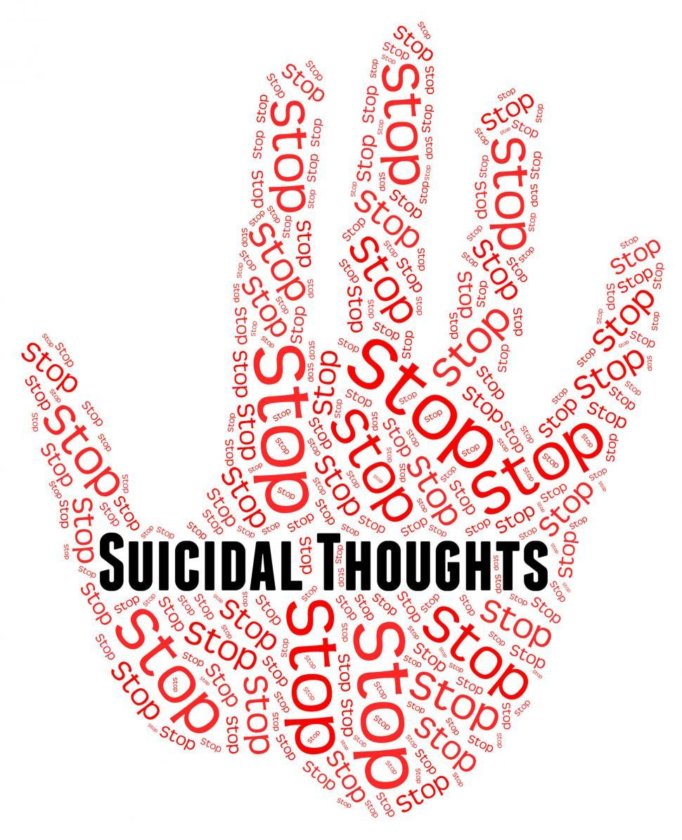 Download Free Stock HD Photo of Stop Suicidal Thoughts Indicates Suicide Crisis And Beliefs Online