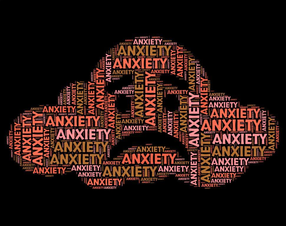Download Free Stock Photo of Anxiety Word Shows Tenseness Text And Words