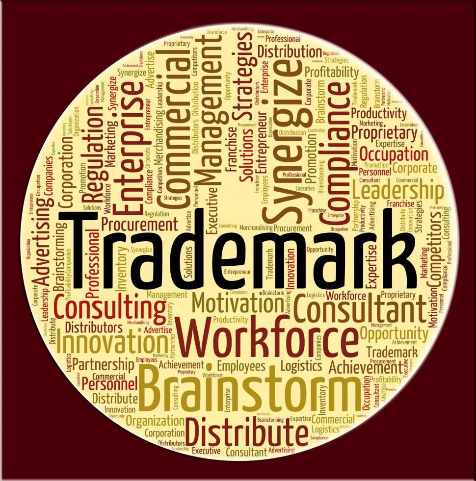 Download Free Stock HD Photo of Trademark Word Means Proprietary Name And Emblem Online