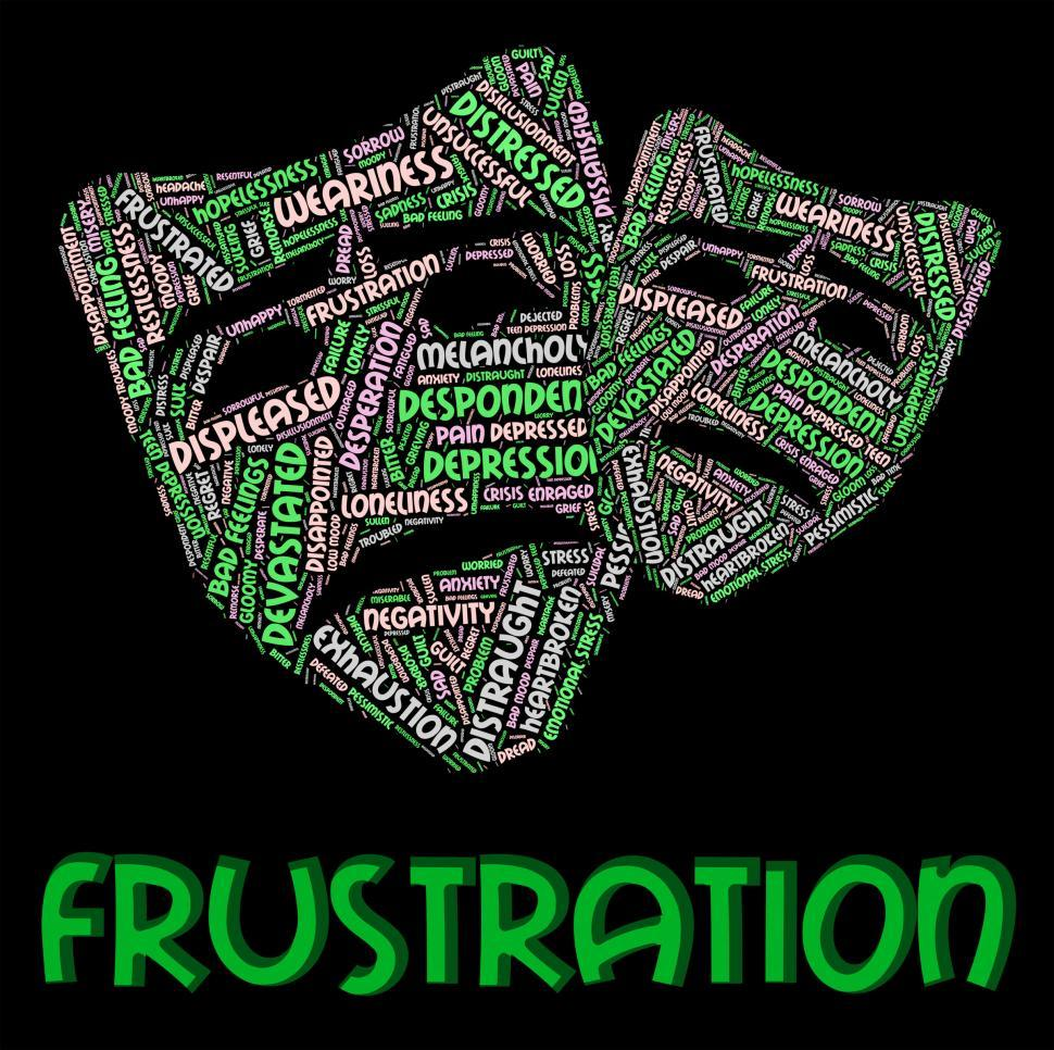 Download Free Stock HD Photo of Frustration Word Means Frustrating Vexed And Angered Online