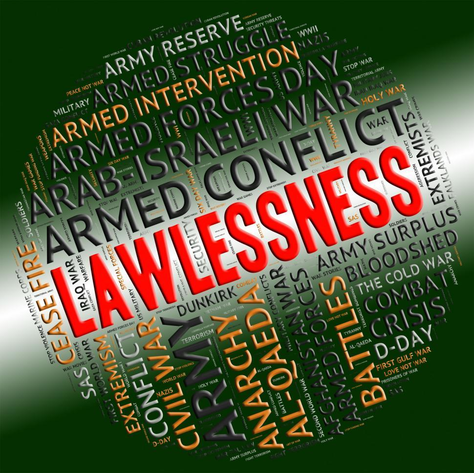 Download Free Stock HD Photo of Lawlessness Word Shows Insurrectionary Wordcloud And Wordclouds Online