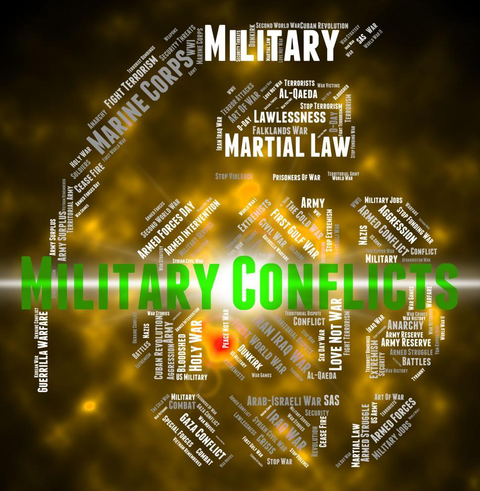 Download Free Stock HD Photo of Armed Conflict Represents Military Conflicts And Battle Online