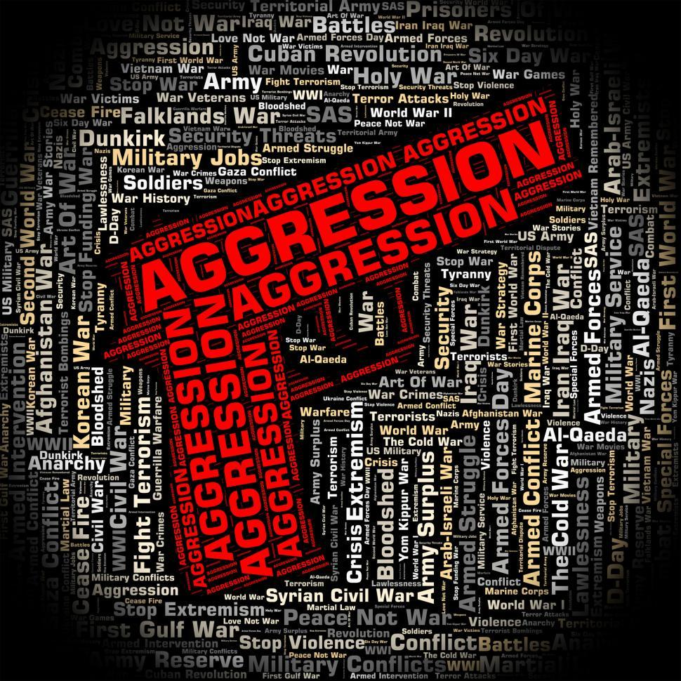 Download Free Stock HD Photo of Aggression Word Represents Violence Wordcloud And Encroachment Online