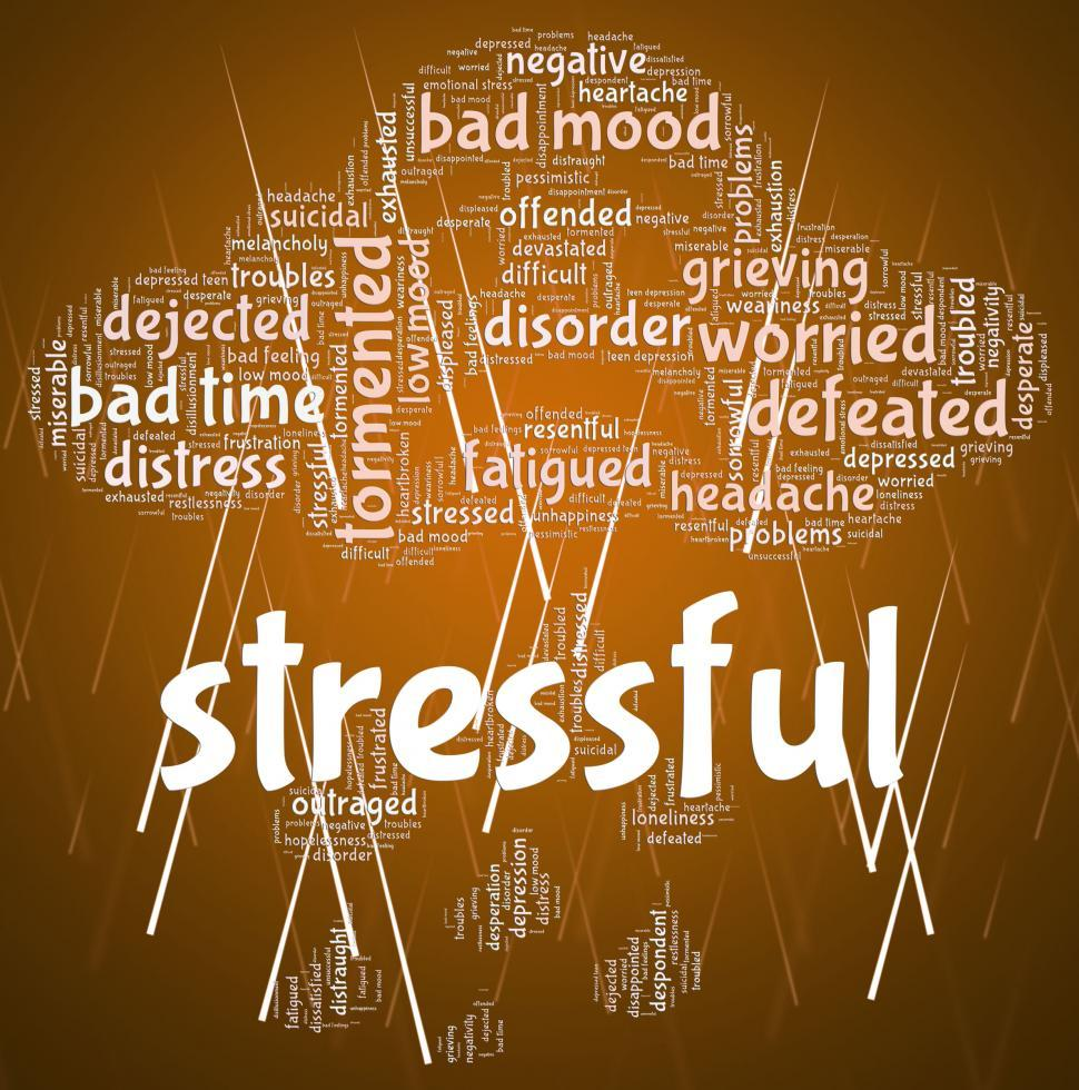 Download Free Stock HD Photo of Stressful Word Means Overload Text And Wordclouds Online