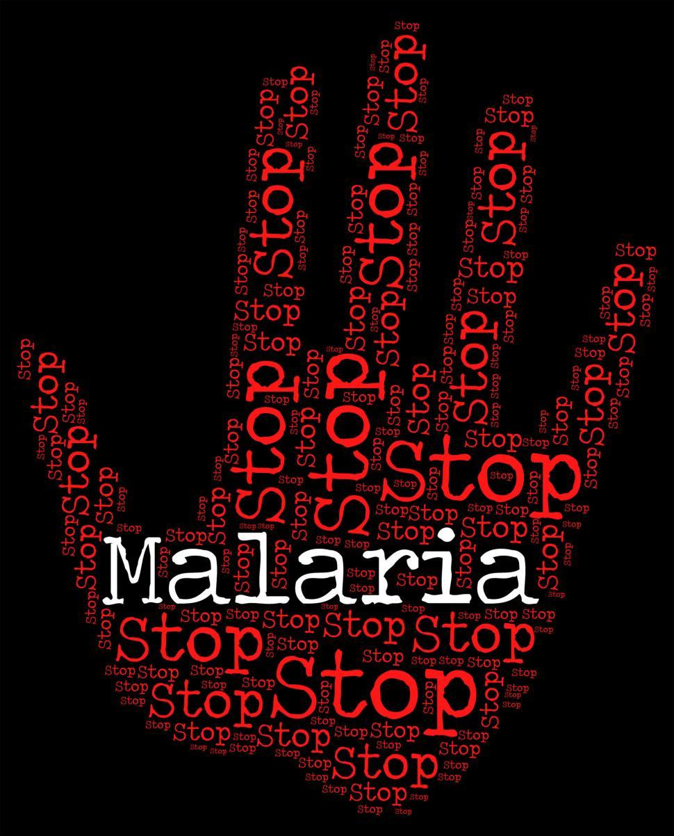 Download Free Stock HD Photo of Stop Malaria Represents Warning Sign And Disease Online