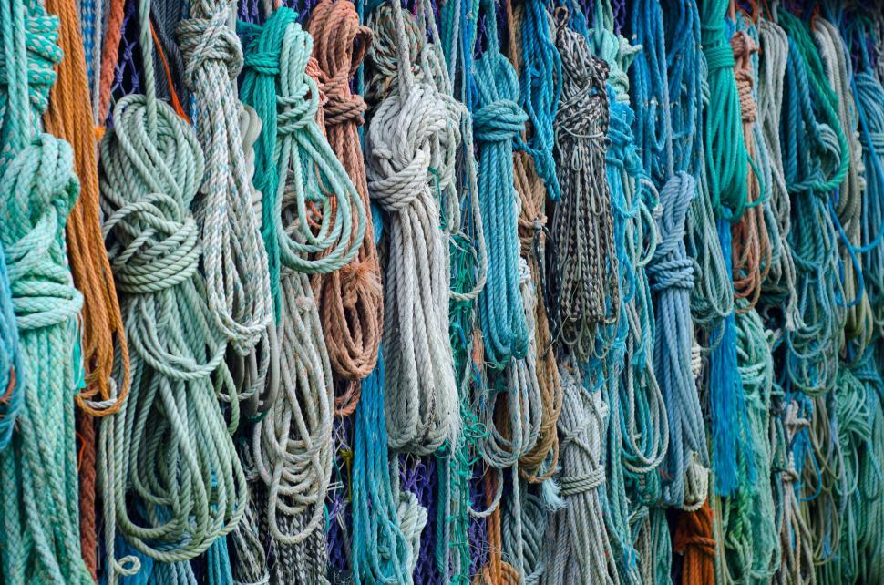 Download Free Stock Photo of measure thread rope texture