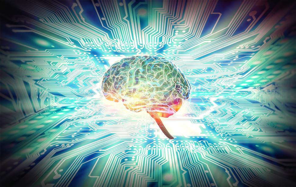 Download Free Stock HD Photo of Artificial Intelligence Concept - Robotic Brain Online